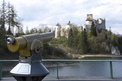 Panoramische telescoop royalty-vrije stock afbeeldingen