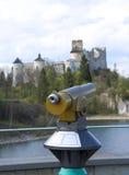 Panoramische telescoop stock afbeeldingen