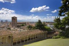 Panoramische Udine stad stock foto's