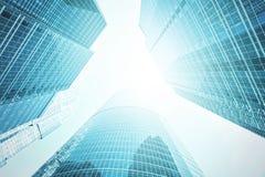 Panoramische und Perspektivenweitwinkelansicht zum Stahl Stockfotografie