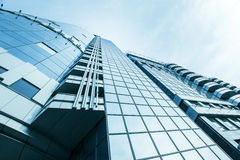 Panoramische und Perspektivenweitwinkelansicht zum Stahl Stockbilder