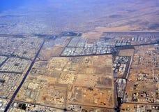 Panoramische Vogelperspektive von Dubai-Stadt Stockfotografie