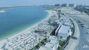 Panoramische Vogelperspektive von Yas-Insel, Abu Dhabi, UAE Lizenzfreie Stockbilder