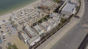 Panoramische Vogelperspektive von Yas-Insel, Abu Dhabi, UAE Lizenzfreie Stockfotografie