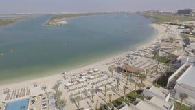Panoramische Vogelperspektive von Yas-Insel, Abu Dhabi, UAE Lizenzfreies Stockbild