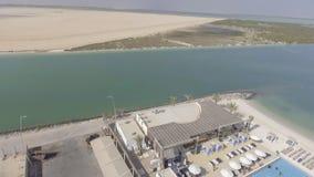 Panoramische Vogelperspektive von Yas-Insel, Abu Dhabi, UAE Stockbilder
