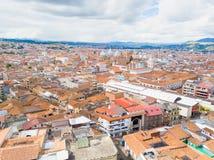 Panoramische Vogelperspektivestadt von Cuenca stockbilder