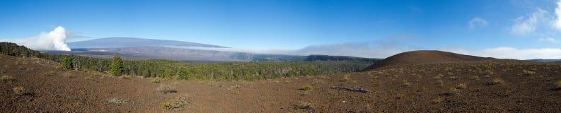 Panoramische vulkaan stock fotografie