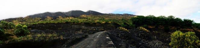 Panoramische vulkanische Landschaft Stockfotos