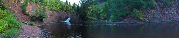 Panoramische waterval Royalty-vrije Stock Afbeelding