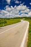 Panoramische weg in binnenlands van Istria Royalty-vrije Stock Fotografie