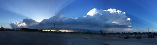 Panoramische Wolken Stockfotografie