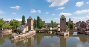 Panoramische Zeitspanne von Pont Couverts stock footage