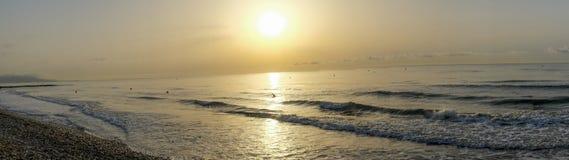 Panoramische zonsondergang Stock Foto