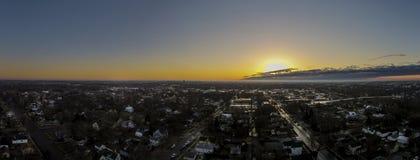 Panoramische zonsopgang Stock Foto