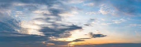 Panoramische zonstijging en zonreeks Royalty-vrije Stock Foto