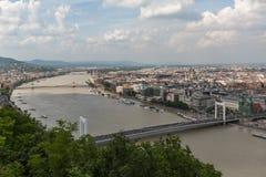 Panoramischer Überblick über Budapest lizenzfreies stockbild