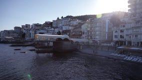 Panoramischer Überblick über die Stadt des Meeres stock footage