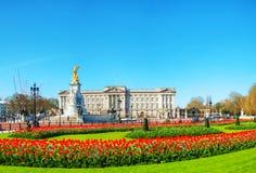 Panoramischer Überblick des Buckingham-Palasts in London, Vereinigtes Königreich Stockfotografie