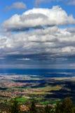 Panoramischer Überblick zu Elsass von der Abtei Mont Saint Odile Frühling Lizenzfreie Stockbilder
