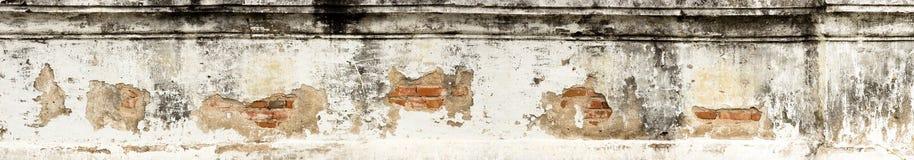 Panoramischer alter Backsteinmauerhintergrund Stockfotografie