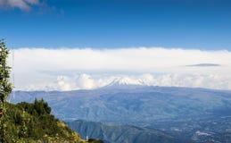 Panoramischer Cotopaxi-Vulkan in den Anden Lizenzfreies Stockfoto