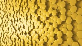 Panoramischer Hintergrund-Bienenstock Lizenzfreies Stockfoto