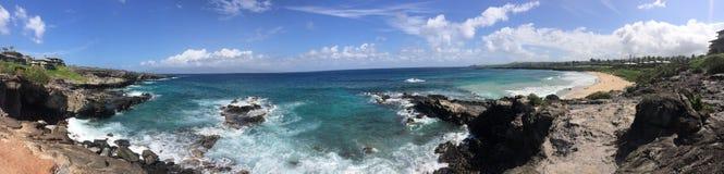Panoramischer Meerblick Stockfotos