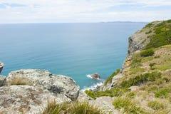 Panoramischer Ozean Ausblick Bass Strait Tasmania Stockbild