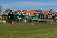 Panoramischer Schuss des Dorfs Marken Stockfotos