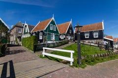 Panoramischer Schuss des Dorfs Marken Stockbilder