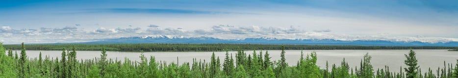 Panoramischer See Stockfotos