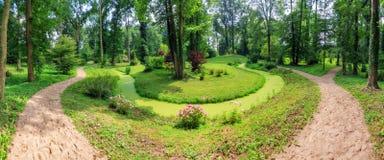 Panoramischer Sommerpark Lizenzfreies Stockfoto