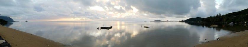 Panoramischer Sonnenaufgang Stockfoto