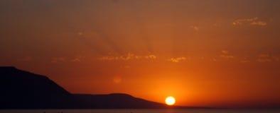 Panoramischer Sonnenuntergang Lizenzfreie Stockfotos