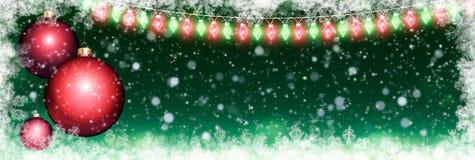 Panoramischer Weihnachtshintergrund Lizenzfreies Stockfoto