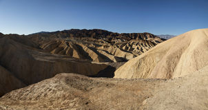 Panoramischer Zabriskie Punkt bei Death Valley Stockfotos