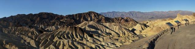 Panoramischer Zabriskie Punkt bei Death Valley Stockbild
