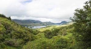Panoramisches Bild von der Damen-Ansichtaussicht an Nationalpark Killarneys lizenzfreie stockbilder