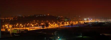 Panoramisches Foto der Stadt von Tanger marokko stockbilder