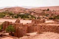 Panoramisches Foto von Ait Benhaddou, Marokko Stockbild