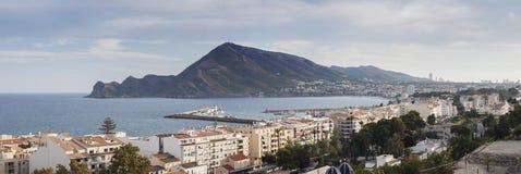 Panoramisches Foto von Altea, Spanien Lizenzfreies Stockbild
