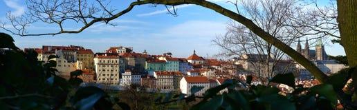 Panoramisches Foto von Hradcany Uvoz Stockfoto