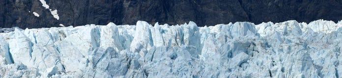 Panoramisches Gletscher-Schacht-Nahaufnahme-Detail Alaska stockfotos