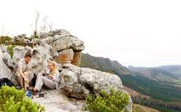 Panoramisches im Freienlebensstilwandern Stockfotografie