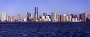 Panoramisches Miami lizenzfreie stockfotografie