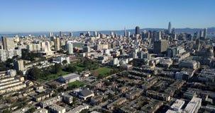 Panoramisches sonniges Stadtbild von San Francisco in USA stock video footage