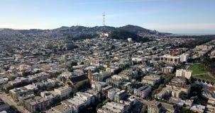 Panoramisches sonniges Stadtbild von San Francisco in USA stock footage