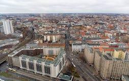 Panoramisches Stadtbild von Berlin, Deutschland Stockbilder