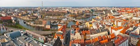 Panoramisches Stadtbild von Breslau, Polen stockfotos